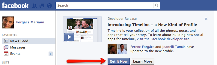 Így érhető el a Facebook Timeline